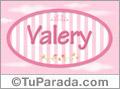 Nombre Nombre Valery de bebé, para imprimir