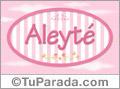 Aleyté, nombre de bebé de niña