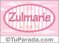 Nombre Nombre Zulmarie de bebé, para imprimir
