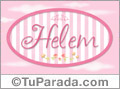 Nombre Nombre Helem de bebé, para imprimir