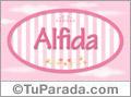 Alfida, nombre de bebé de niña
