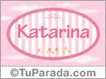 Nombre Nombre Katarina  de bebé, para imprimir