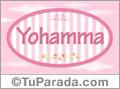 Nombre Nombre Yohamma  de bebé, para imprimir