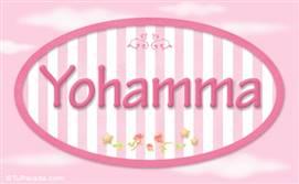 Yohamma, nombre de bebé de niña