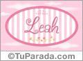 Nombre Nombre Leah de bebé, para imprimir