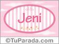 Jeni, nombre de bebé de niña