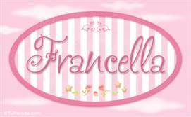 Francella, nombre de bebé de niña
