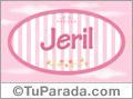 Nombre Nombre Jeril de bebé, para imprimir