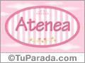 Atenea, nombre de bebé de niña