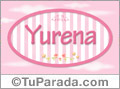 Nombre Nombre Yurena de bebé, para imprimir