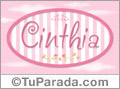 Cinthia, nombre de bebé de niña