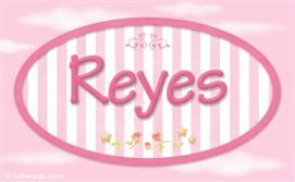 Reyes, nombre de bebé de niña