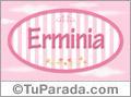 Erminia, nombre de bebé de niña