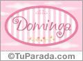 Nombre Nombre Dominga de bebé, para imprimir
