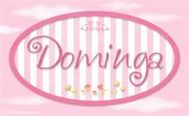 Dominga, nombre de bebé de niña