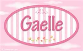 Gaelle, nombre de bebé de niña