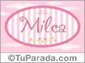 Milca, nombre de bebé de niña