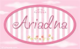 Ariadna, nombre de bebé de niña