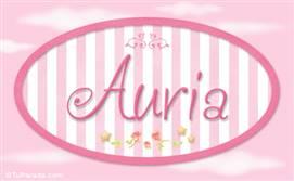 Auria, nombre de bebé de niña