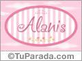 Alanis, nombre de bebé de niña