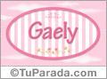 Nombre Nombre Gaely de bebé, para imprimir