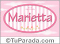 Marietta, nombre de bebé de niña