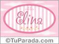 Elina, nombre de bebé de niña