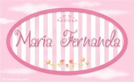 María Fernanda Significado De María Fernanda