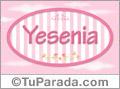 Nombre Nombre Yesenia de bebé, para imprimir
