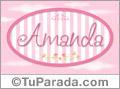 Amanda, nombre de bebé de niña
