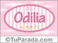 Odilia, nombre de bebé de niña