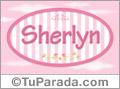 Nombre Nombre Sherlyn de bebé, para imprimir