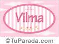 Vilma, nombre de bebé de niña