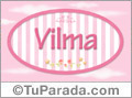 Nombre Nombre Vilma de bebé, para imprimir