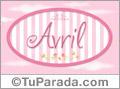 Avril, nombre de bebé de niña