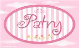 Patry, nombre de bebé de niña