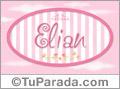 Nombre Nombre Elian de bebé, para imprimir