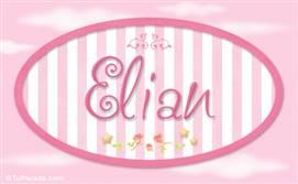 Elian, nombre de bebé de niña