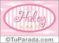 Nombre Nombre Haley de bebé, para imprimir