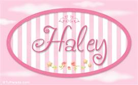Haley, nombre de bebé de niña