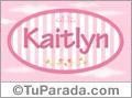 Nombre Nombre Kaitlyn de bebé, para imprimir