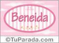 Beneida, nombre de bebé de niña
