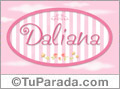 Nombre Nombre Daliana de bebé, para imprimir