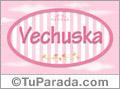 Nombre Nombre Vechuska de bebé, para imprimir