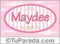 Nombre Nombre Maydee de bebé, para imprimir