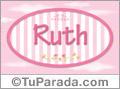 Nombre Nombre Ruth de bebé, para imprimir