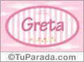 Nombre Nombre Greta de bebé, para imprimir