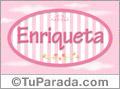 Enriqueta, nombre de bebé de niña