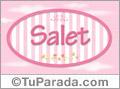 Salet, nombre de bebé de niña