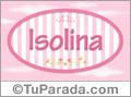 Nombre Nombre Isolina de bebé, para imprimir